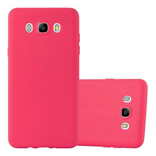 Preisvergleich Produktbild Cadorabo Hülle für Samsung Galaxy J5 2016 (6) - Hülle in Candy ROT - Handyhülle aus TPU Silikon im Candy Design - Silikonhülle Schutzhülle Ultra Slim Soft Back Cover Case Bumper