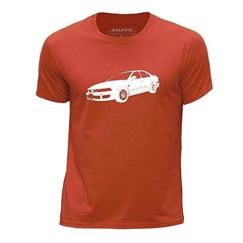 STUFF4 Boy's Age 3-4 (98-104cm) Orange Round Neck T-Shirt/Stencil Car Art / Galant VR4