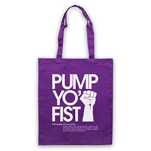 Pump Yo Fist Slogan Umhangetaschen Violett