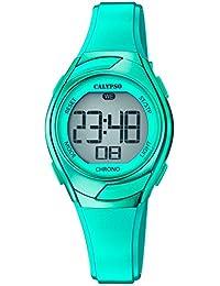 Calypso Armbanduhr für Kinder Fashion Digital Crush PU-Armband grün Quarz-Uhr UK5738/5