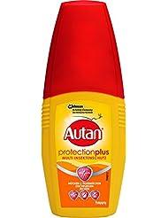 Autan Insektenschutz-Pumpspray für Körper und Gesicht, Zum Schutz vor heimischen Mücken, Stechfliegen und Zecken, 100 ml, Protection Plus Pumpspray