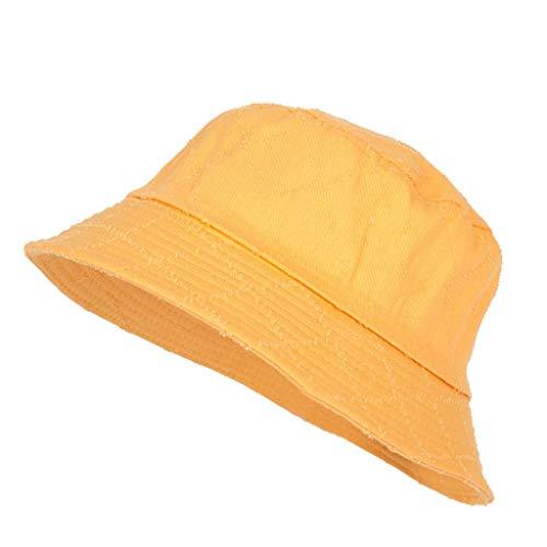 Hut Gelb T-shirt (Saingace(TM) Hüte Fischerhut Sonnenhut 100% Baumwolle Anglerhut Fischermütze Strandhut Freizeithut Schlapphut)