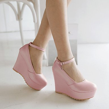 Talloni delle donne Primavera Estate Autunno Inverno Dress Altro similpelle Party & Sera cuneo casuale Heel fibbia Blu Rosa Bianco Pink