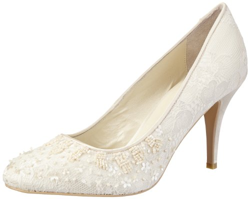 Menbur Wedding Adriana, Damen Pumps, Elfenbein (Ivory), 37 EU
