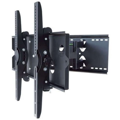 2xhome - NEW TV Wall Mount Bracket (Dual Arm) - Secure Cantilever LED LCD Plasma Smart 3D WiFi Flat Panel Screen Monitor Moniter Display Large Displays - Long Swing Out Dual Double Arm Extending Extendible Adjusting Adjustable - Full Motion 15 degree degrees Tilt Tilting Tiltable Swivel Articulating Heavy Duty Strong Durable Support - Mounted Mounting Home Entertainment Media Center Multimedia Fur  available at amazon for Rs.12949