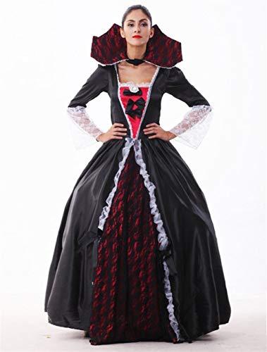 ZSJ~SW Sexy Halloween kostüm Rollenspiel uniform europäischen und amerikanischen schauspielerinnen Vampire Ghost Dance Queen kostüm Rollenspiel (Color : Black, Size : Einheitsgröße)