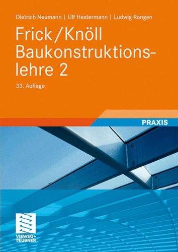 Preisvergleich Produktbild Frick/Knöll Baukonstruktionslehre 2