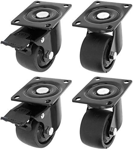 Com-four® 4 Ruedas giratorias Muebles atornillar