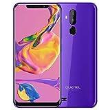 OUKITEL C12 Smartphone, 6.18' 3G Telefono Cellulari Sbloccato, 19:9 Android 8.1 Quad Core 2GB+16GB, Fotocamera 8MP+2MP+5MP, Riconoscimento del Viso, Impronte Digitali, Viola