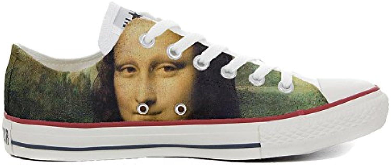 mys Converse All Star Low Customized Personalisiert Schuhe Unisex (Gedruckte Schuhe) La Gioconda