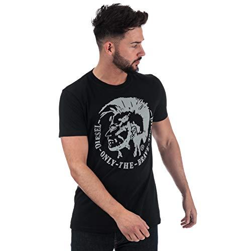 Diesel Herren 00SQXC T-Shirt, Schwarz (900), Medium - Diesel Hose