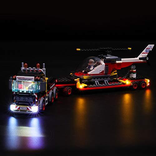 LIGHTAILING Set di Luci per (City Trasportatore Carichi Pesanti) Modello da Costruire - Kit Luce LED Compatibile con Lego 60183 (Non Incluso nel Modello)