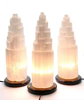 Un bouillon d'enrichissement sélénite lampe avec socle, taille xXL poitrine 34 cm de hauteur environ 4 kg
