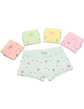 Espoy Mädchen Unterhose Unterwäsche Slips Set Blume Muster Kinder-Unterwäsche Baumwolle 1-9 Jahre 86-134 5er Pack