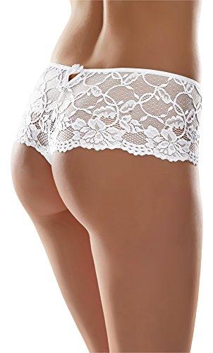 Merry Style Damen String MSGAB39 Weiß