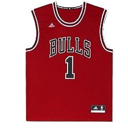 adidas INT Replica JRSY - Camiseta para hombre, color rojo/negro/blanco, talla XS
