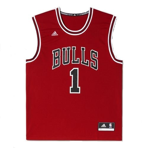 adidas NBA Chicago Bulls Derrick Rose Domicile Replica Maillot Homme Rouge FR : XXL (Taille Fabricant : 2XL)
