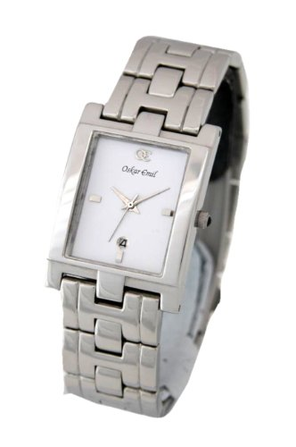 Oskar Emil Classic Stainless Steel with White Dial Men's Watch.