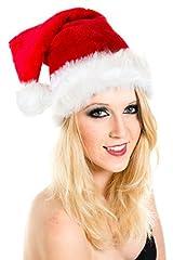 Idea Regalo - Berretto di Natale Natale cappelo di Babbo cappelli cappucci Super peluche pesante rosso