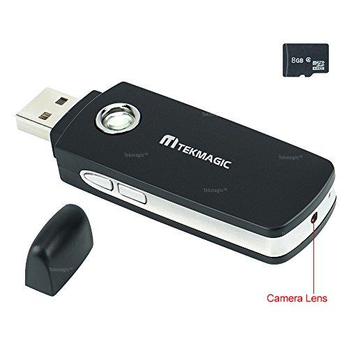 TEKMAGIC 8GB Mini Cámara Espía Unidad Flash USB Detección de Movimi