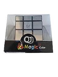 QJ Silver Black Mirror Speed Cube 3x3x3