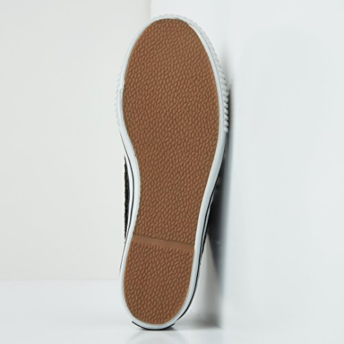 British Knights Master Platform Donne Bassa Sneakers NERO PIZZO