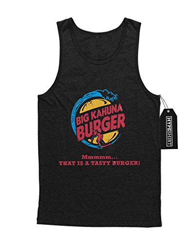 Tank-Top Pulp Fiction Big Kahuna Burger King Mashup C123457 Schwarz (Kostüm Marsellus Wallace)