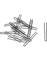 SODIAL(R) 20 Pcs Pince a cheveux de Chignon flexible metallique noir pour femme