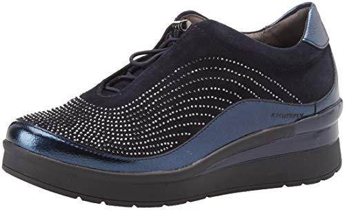 Stonefly cream 2 metal goat, sneaker infilare donna, blu (night blue 131), 35 eu