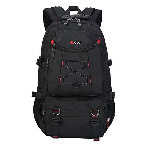 KAKA Laptop-Tasche Computer-Beutel-Spielraum-Rucksack Wandern Bag Camping Bag Weekend Bag Reisetasche Duffle Bag Sporttasche Sporttasche Schultasche College-Tasche Buch-Tasche Schwarz -
