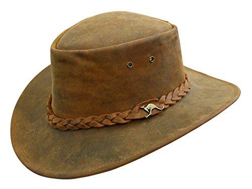 Kakadu Traders Nullarbor Lederhut Robuster Outdoor Hut Outbackhut Regenhut Cowboyhut Hutband mit...