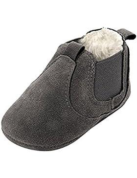 A.O.R Krabbelschuhe Gefüttert Lederschuhe Baby Hausschuhe Winter Jungen Mädchen Weiche Sohle Warm Schuhe
