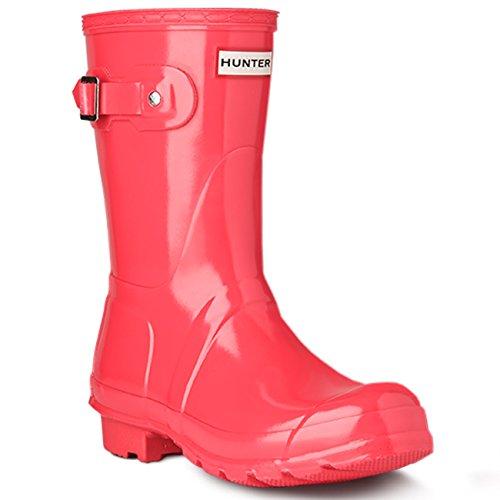 Donna Hunter Original Short Gloss La Neve Pioggia Inverno Wellingtons Stivali Militare Rosso