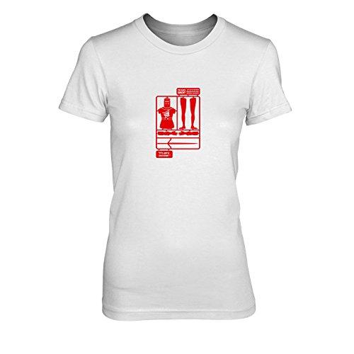 The Black Knight - Damen T-Shirt, Größe: XL, Farbe: weiß