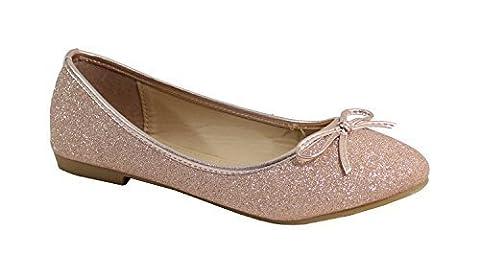 By Shoes, Damen Ballerinas , rosa - champagne - Größe: 41 EU