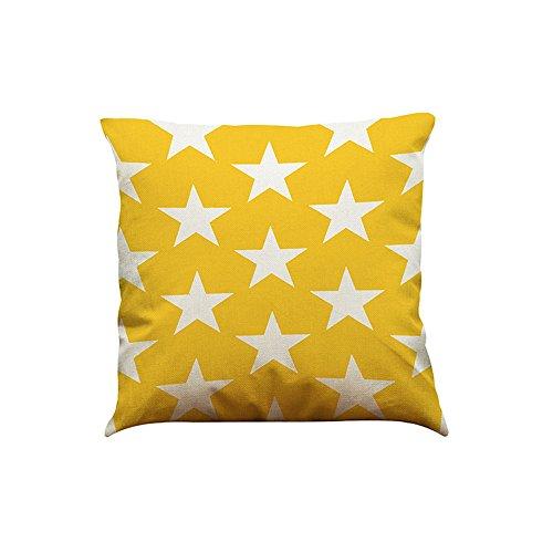 Andouy fodera per cuscino, serie geometrica cotone lino home office federa decorativa cuscino tiro cuscino decorativo quadrato divano divano 45 x 45 cm