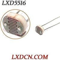 Fotorresistencia lxd5516/oscuro resistencia: 0.2mohm/luz resistencia: 5–10kohm LDR 5mm Serie light-dependent resistencia