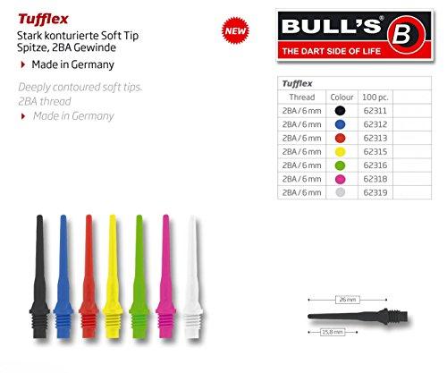 Bull's Tufflex Soft Tips Long, 6mm 2BA, 100 Stück
