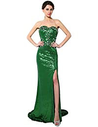 Sarahbridal Long Evening Dresses for Women UK Sequins Prom Dress Gowns  Wedding Ball Party Dresses Ladies 4a138eff75ec