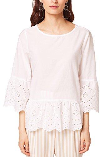 ESPRIT Damen Bluse 058EE1F021 Weiß (Off White 110) 34