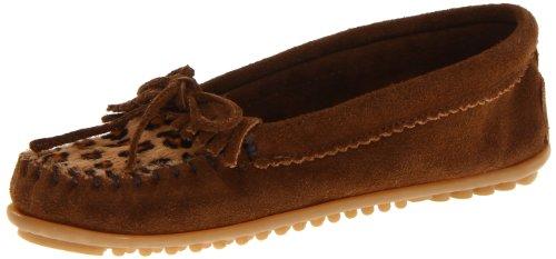 Minnetonka Echte Stiefel (Minnetonka Leopard Kilty Moc Damen Mokassin, Braun (Dusty Brown 3F), 41 EU)