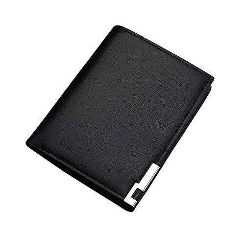 Ylen Schlanke Leder Geschäft Brieftasche Geldbörse PU Leder Portemonnaie Bifold Kartenhalter für Männer (Card Holder Billfold Wallet)