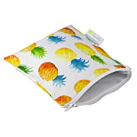 Itzy Ritzy - Snack Happens - Reusable Snack and Everything Bag - Painterly Pineapple