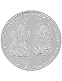 Jewel99 Pure Silver Laxmi Ganesh Shree Yantra Coin 10 grams