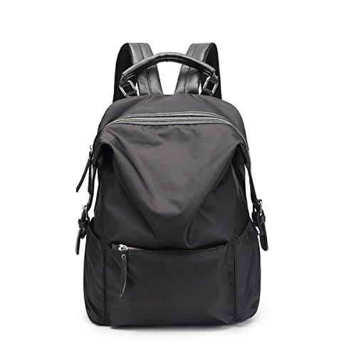Frau Umhängetasche Lässig Wild Große Kapazität Oxford Tuch Computer Rucksäcke Student Taschen,OneSize-Black