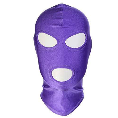 HONGSHENG Offener Mund, Augenmaske, Rollenspiele, Halloween-Geschenkmaske, erotische Kopfbedeckung, Erwachsene Produkte,purple3,3packs