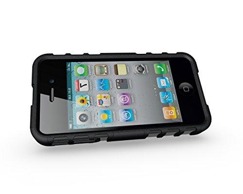 iPhone 4/4G/4S Premium PU Portefeuille en cuir Housse, newstars Folio Étui à rabat pour Téléphone portable Motif Lovers mobile pour protéger la peau étui en cuir pour iPhone 4/4G/4S Téléphone suppor Tyre Pattern:Black