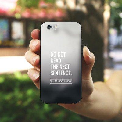 Apple iPhone 7 Silikon Hülle Case Schutzhülle Sprüche Statement Grau Silikon Case schwarz / weiß