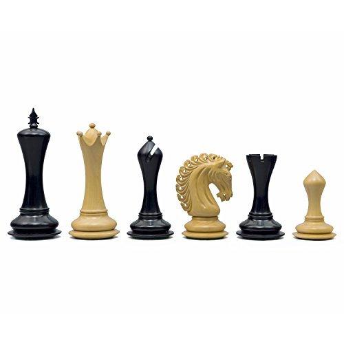 Die Große Empire Ritter Ebenholz Luxus Schachfiguren mit 11.4cm King