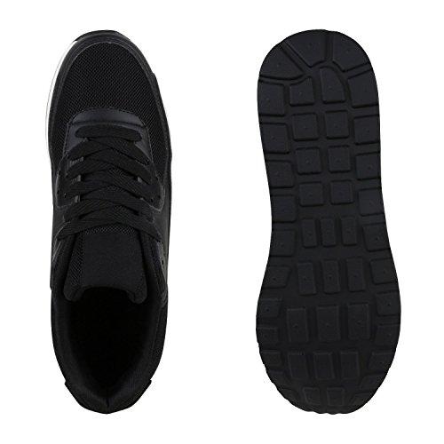 Knallige Damen Herren Unisex Sportschuhe | Auffällige Neon-Sneakers | Sportlicher Eyecatcher für Ihren Alltags-Look | Angenehmer Tragekomfort | Gr. 36-45 Schwarz Weiss